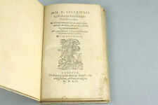 CICERON Epistolarum Familiarum 1552 Ciceronis Cicero Lettres Familières Livre