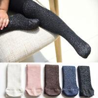 Toddler Baby Kids Girls Cotton Warm Soild Pantyhose Socks Shiny Stockings Tights