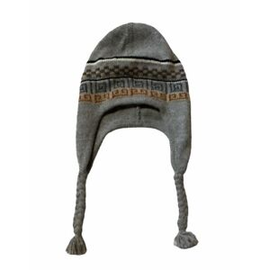 Peru Alpaca Beanie Hat with Earflaps Chullo by SOL 100% Alpaca OS Dark Gray Soft