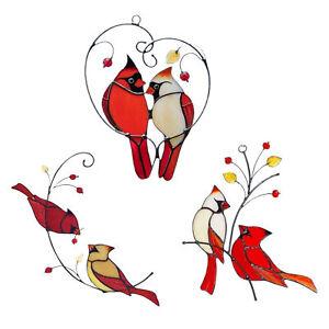 Lovely Birds Window Wall Hanging Acrylic Ornaments Home Garden Decor Suncatcher