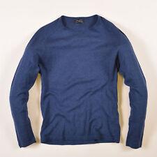 Zara Herren Pullover Sweater Strick Gr.S Dünn Basic Blau, 41417