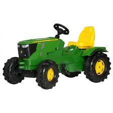 Rolly Toys John Deere 6210 R Traktor ohne Frontlader Trettraktor grün