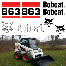 Bobcat 863 Skid Steer Set Vinyl Decal Sticker Set bob cat MADE IN USA
