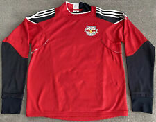 ADIDAS NEW YORK RED BULL MLS RBNY TRAINING SWEAT TOP MENS LARGE