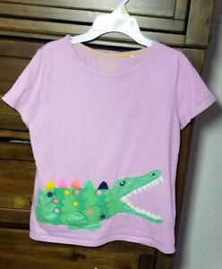 Pre Owned Mini Boden Girls T Shirt SIZE 11-12 Purple
