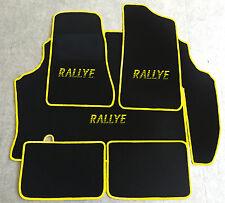 Autoteppich Kofferraum Set für Opel Kadett C Coupe Rallye schwarz gelb 5tlg Neu