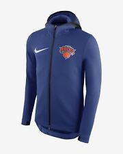 Nike NBA New York Knicks Therma Flex Showtime Hoodie Blue 899860-495 Men's Small