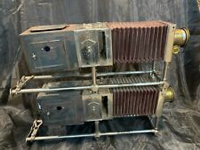 Antique McIntosh Stereopticon Slide Projector Rare Dual - VERY COOL - 387