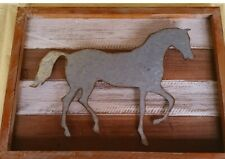 horse rustic wall art FREE POST