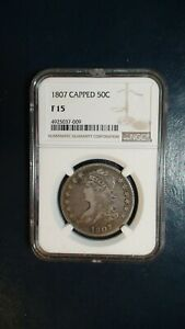 1807 CAPPED BUST HALF NGC FINE 15 BETTER DATE SILVER 50C Coin PRICED TO SELL!