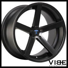 "22"" ROHANA RC22 BLACK DEEP CONCAVE WHEELS RIMS FITS PORSCHE CAYENNE TURBO S GTS"
