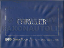 1969 Chrysler Data Book Dealer Album Color Upholstery 300 New Yorker Newport