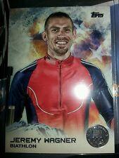 2014 Topps Olympics silver parallel #90 Jeremy Wagner, biathlon