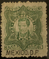 L1/26 Mexico Stamps BOB Revenue 1883- 1884 3c MHROG Nice Coll