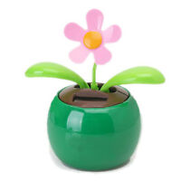 Flip Flap Solar Powered Flower Flowerpot Swing Dancing Toy Home Ornament BT