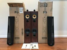 High End Bowers Wilkins B&W P6 Stereo Speakers + Box, Manual, Spikes, Serviced!!
