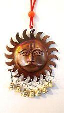 WALL HANGING AUM OM SURYA SUN METAL HINDU GOD LORD SURAJ DEVTA WIND CHIME BELL