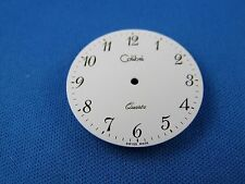 COLIBRI Wrist Watch Dial -Quartz- 30.5mm -White- Swiss Made  #312