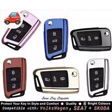 TPU Key Case Cover Compatible For VW Golf MK7 Ibiza Leon FR 2 Altea Etc