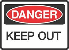 """DANGER KEEP OUT (5 Pack) 3.5"""" x 5"""" Label Sticker Safety Sign Decal Warning"""