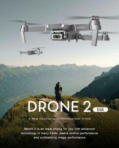 E68 Drone 2 Wide Angle 4K 1080P HD WIFI FPV Foldable Quadcopter