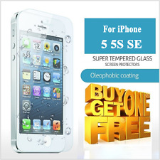 100% REAL TEMPERED GLASS FILM SCREEN PROTECTOR FOR APPLE IPHONE SE 5C 5S