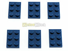 6x LEGO® 3021 2x3 Platte dunkelblau NEU dark blue plate