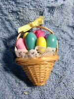 NOS 1992 AVON EASTER BASKET OF EGGS AND ROSES PIN / BROOCH