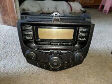 03 04 05 06 HONDA Accord Radio Stereo CD Player 2AC0 Manual Temp Climate Control
