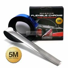 Flexible Edge Trim Molding Sill Accessory Garnish Chrome Cover For Universal Car