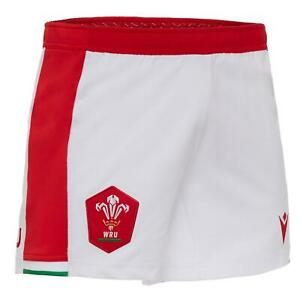 Macron Wales Rugby Mens Home Replica Shorts | White | 2020/21