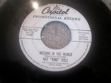 "NAT KING COLE ""Nothing in the world 7"" Vinyl Capital Promotionl Record"