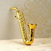 High Quality Miniature Mini Saxophone Model for 1:12 Dollhouse Accessories