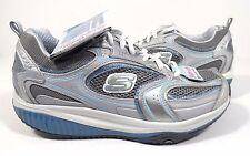Skechers Women's Shape Ups XF Accelerators Sneaker,Silver Blue, Size 6