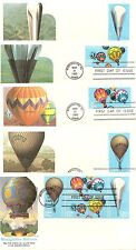 US SC #2032-2035 and 2035a Set of five, Balloons.Washington cancel By Fleetwood