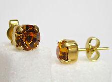 SoHo® Ohrstecker geschliffene Kristalle ss29 crystal gold topaz goldbraun 6mm