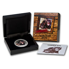 2013 1 oz Proof Silver Endangered and Extinct Coin Tasmanian Devil - SKU #72703