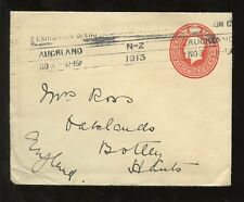 NEW ZEALAND STATIONERY 1913 AUCKLAND EXHIBITION CONTINUOUS MACHINE CANCEL
