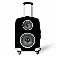 Elastic Spandex Luggage Suitcase Cover Black Size L for 26-28 inches Lugggae