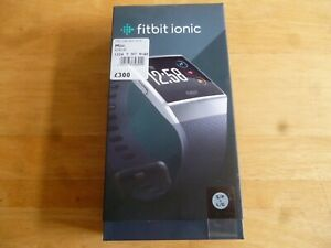 Fitbit IONIC, Water Resistant, Fitness GPS Smart Watch -Charcoal & Smoke Grey