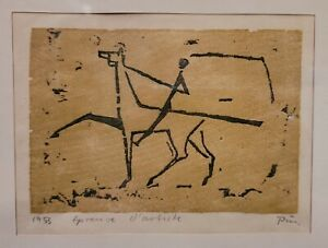"""Pablo Picasso Signed Lithograph Titled """"Reprieve d'Artiste""""? Framed & Mated 1953"""