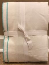 """NEW Pottery Barn Teen Parker Embroidered BLACKOUT 52"""" x 96"""" Drape POOL"""