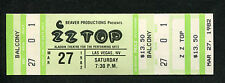 1982 Zz Top Unused Full Concert Ticket Las Vegas Aladdin El Loco Pearl Necklace