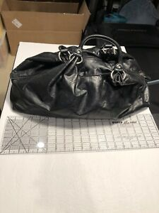 "19"" X 7"" 9""tall Black Purse Double Handles Zip Closure Light Weight"