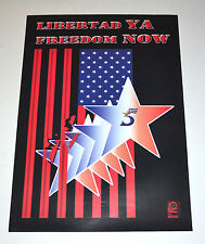 Political Cuban POSTER.OSPAAAL ORIGINAL.Freedom for the 5 Cuba prisoners.Art
