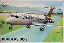 Douglas DC-9, 1/144, AZ Model,Aero Republico, Kolumbien, Plastik,Neuheit