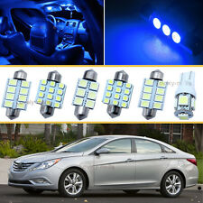 7PCS Blue LED Interior Car Lights Package kit Fit 2007-2014 Mitsubishi Lancer J1