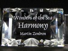SWAROVSKI CRYSTAL PLAQUE FOR ANNUAL EDITION HARMONY MINT BOXED RETIRED RARE