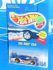 Hot Wheels Mid 1990s Mainline #254 Sol-Aire CX4 Blue w/ Gold WSPs RACE TEAM