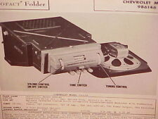 1946 1947 1948 CHEVROLET CAR STYLEMASTER FLEETMASTER AM RADIO SERVICE MANUAL 3